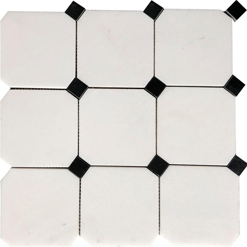 Thassos White Marble Mosaic