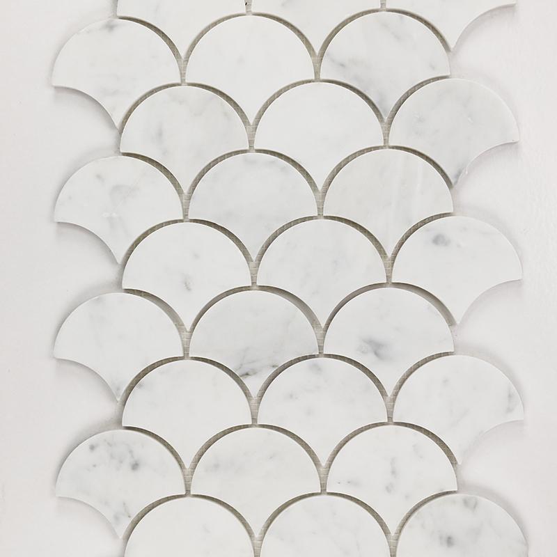Bianco Carrara Scallop Marble Mosaic