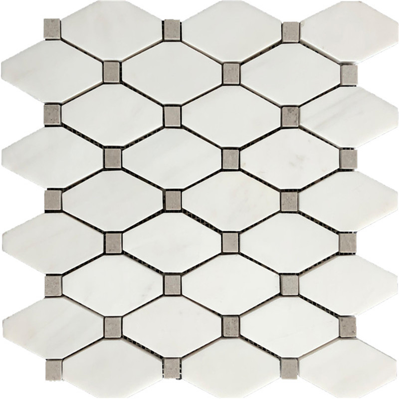 Dolomite White Marble Mosaic