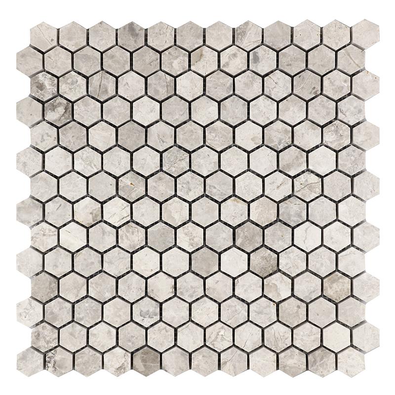 Silver Grey Marble Mosaics