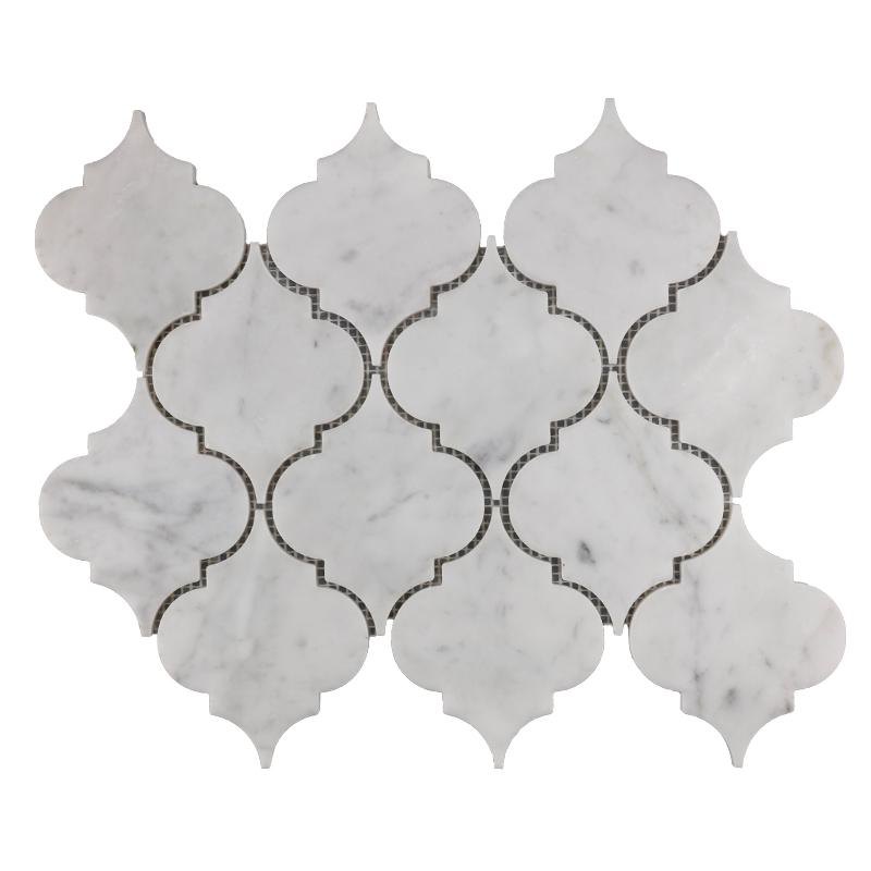Bianco Carrara Lantern Marble Mosaic