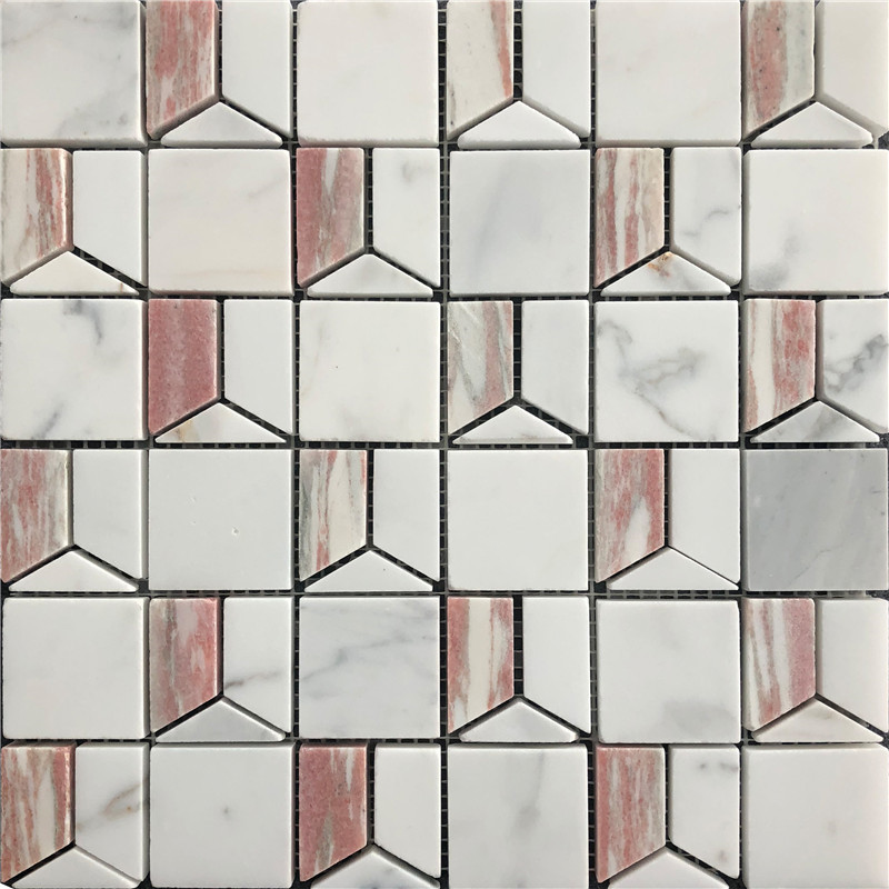 Rorway Red Marble Mosaic