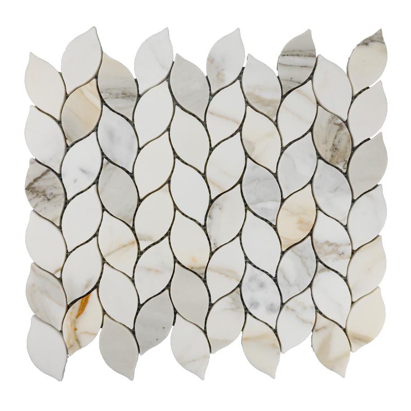 Calacatta Gold Leaf Marble Mosaic