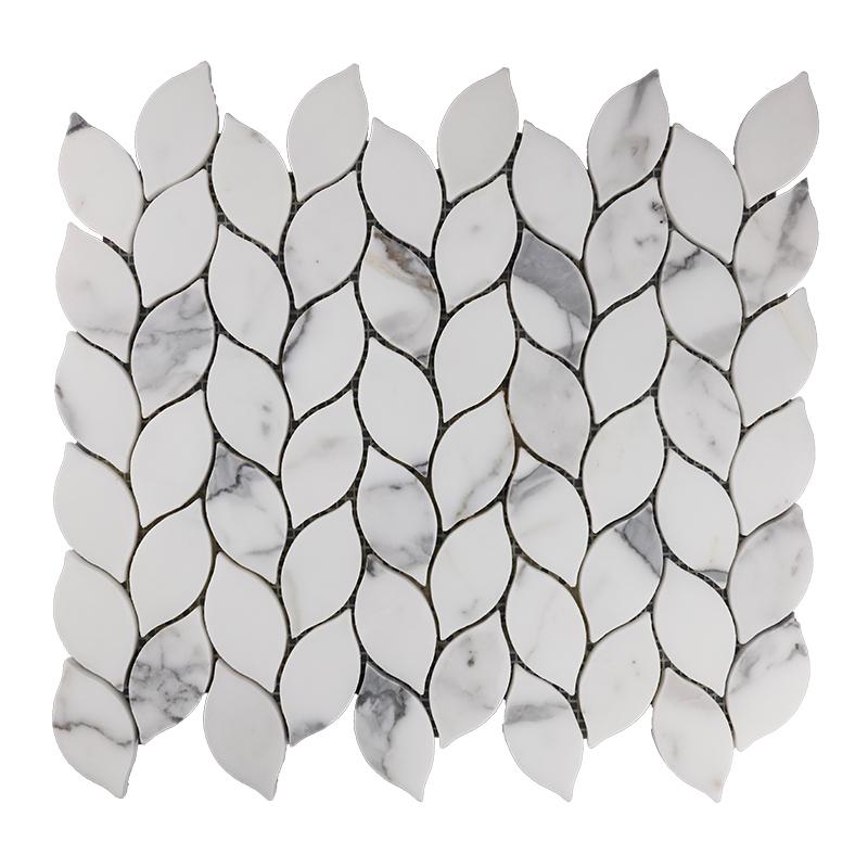Calacatta Leaf Marble Mosaic