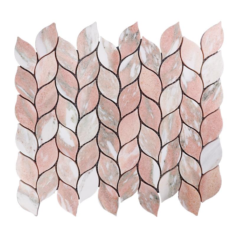 Norway Rose Leaf Marble Mosaic