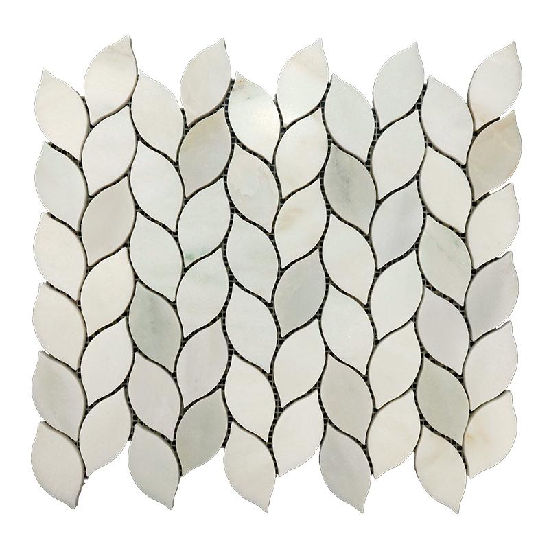 Tibet White Leaf Marble Mosaic