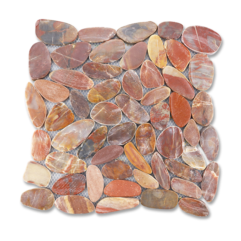 Sliced Pebble Mosaic (Red)