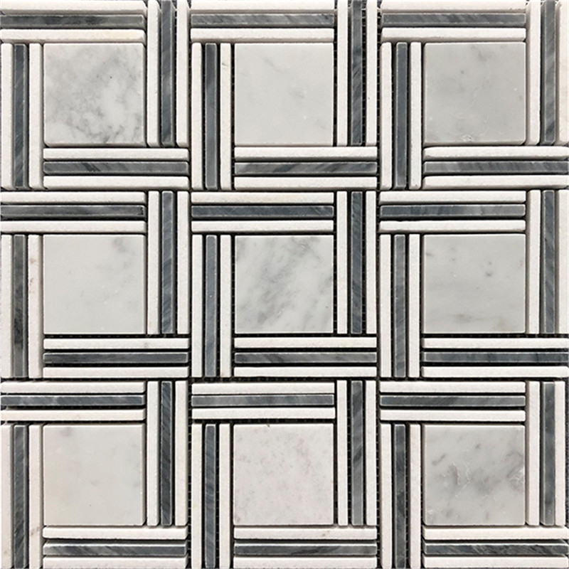Square Mixed Marble Mosaic