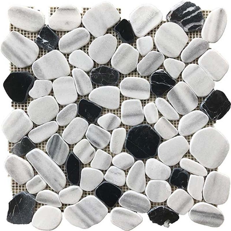 Mixed Color Pebble-Look Marble Mosaics
