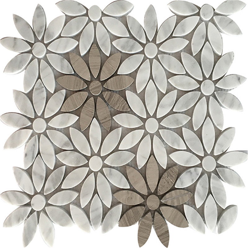 Flower shape Mixed Marble Mosaic